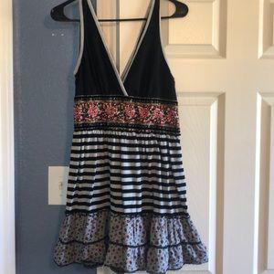 XXI Cotton mixed print dress